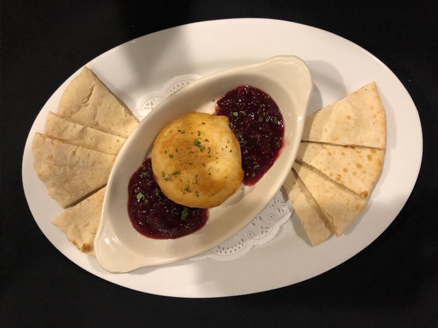 Baked Brie En Croute with Lingonberries