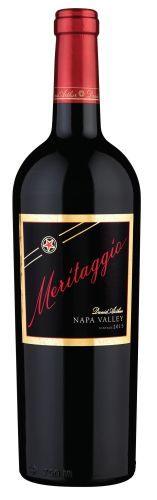 2015 MERITAGGIO RED WINE BLEND, NAPA VALLEY  What would a 'Meritage' be if it showcased the Italian varietal Sangiovese? Meritaggio, of course! This Super Tuscan influenced wine showcases its Italian/French heritage, yet… View Details